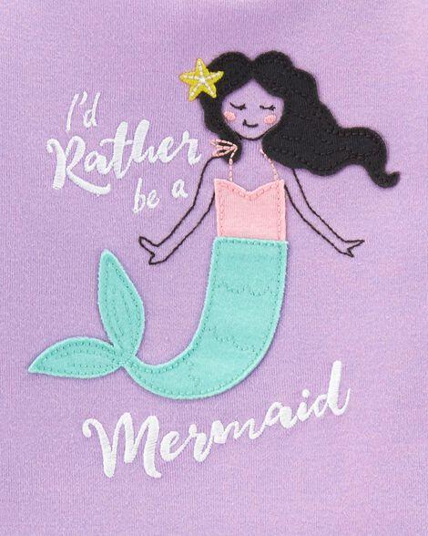 4-Piece Mermaid Snug Fit Cotton PJs