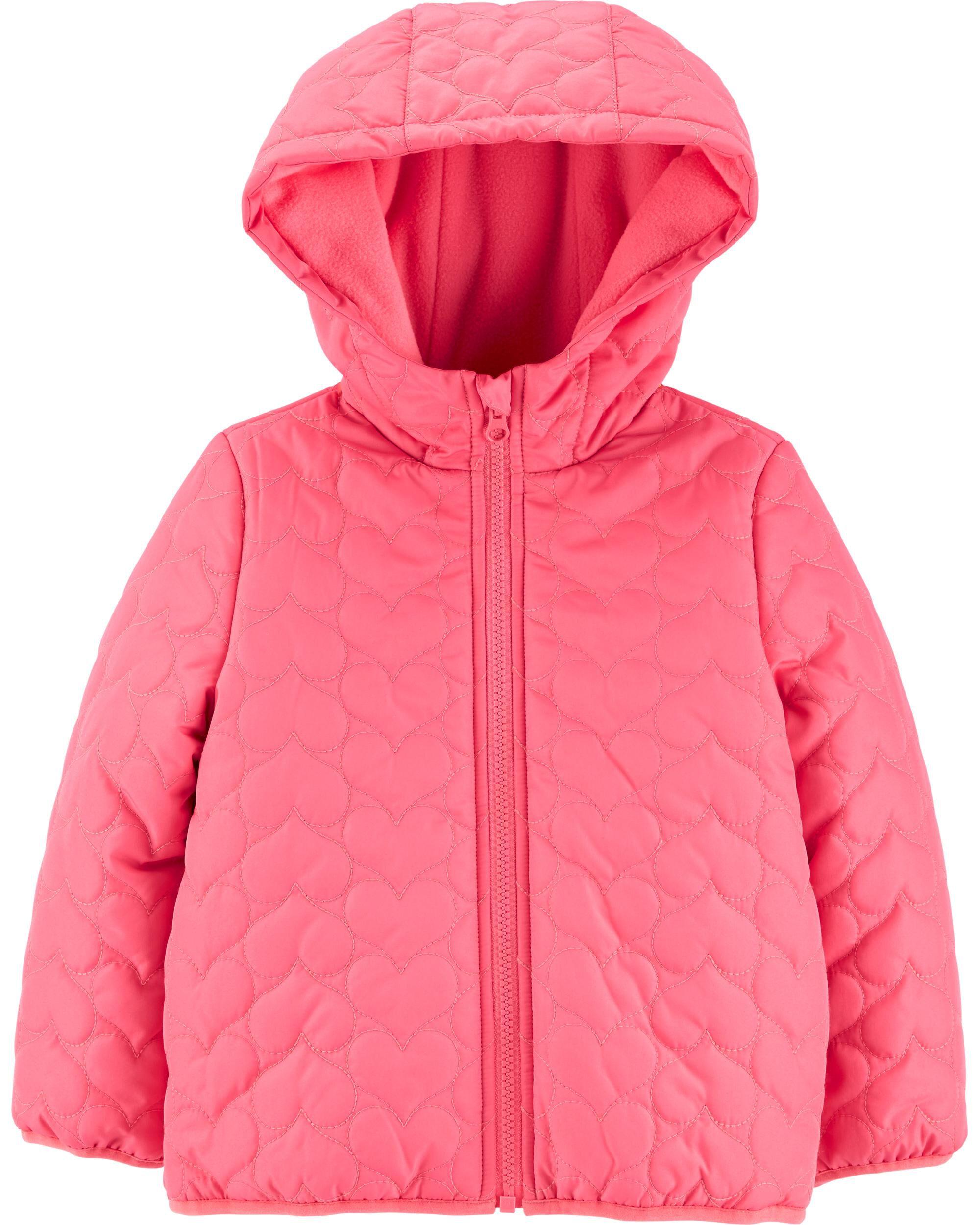 Carter/'s Toddler Girls Pink Classic Heavyweight Puffer Jacket Size 2T 3T 4T
