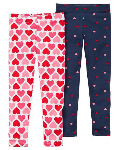 24e906695aba1 2-Pack Valentine's Day Leggings | Carters.com