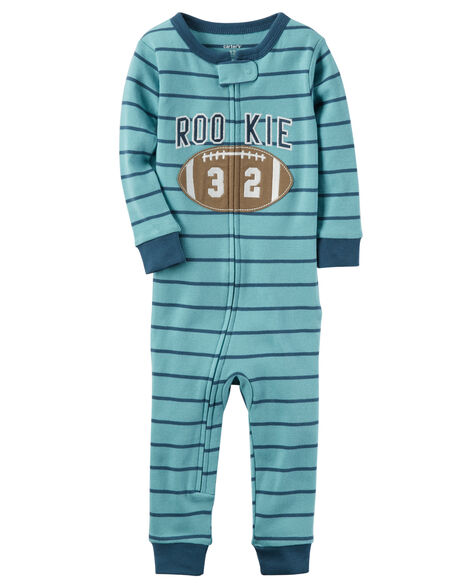 1cc4ebc35d 1-Piece Football Snug Fit Cotton Footless PJs