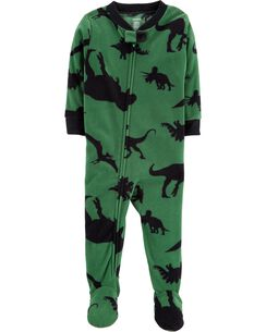 1 piece dinosaur fleece pjs
