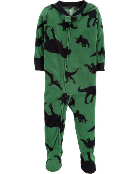 1-Piece Dinosaur Fleece PJs