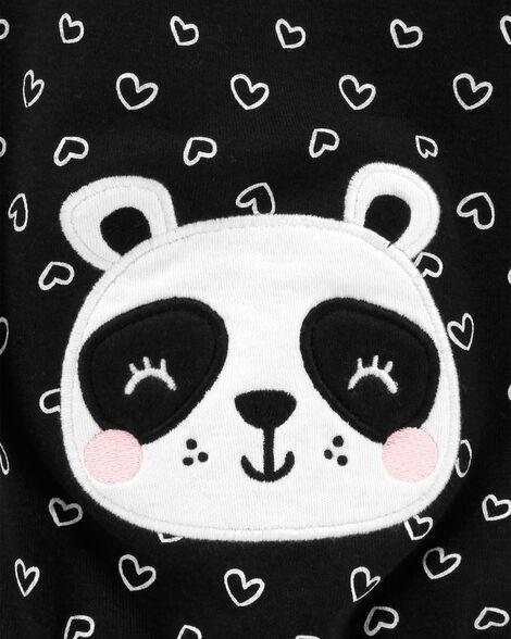 Heart Panda Snap-Up Romper