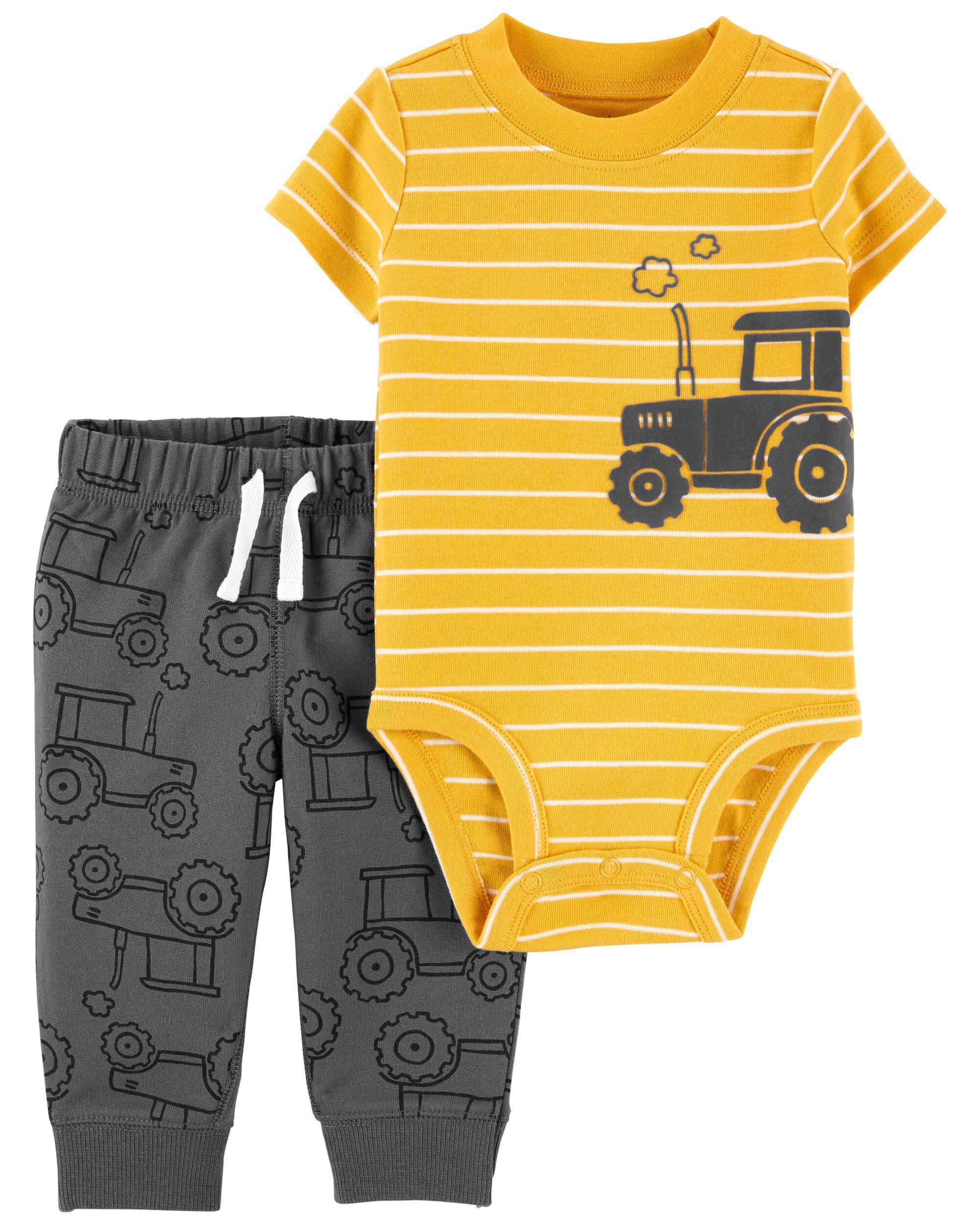*DOORBUSTER* 2-Piece Tractor Bodysuit Pant Set