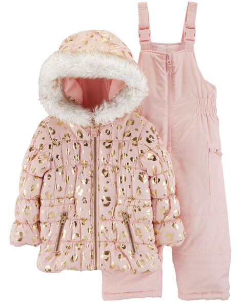60870ab83 2-Piece Leopard Snowsuit Set