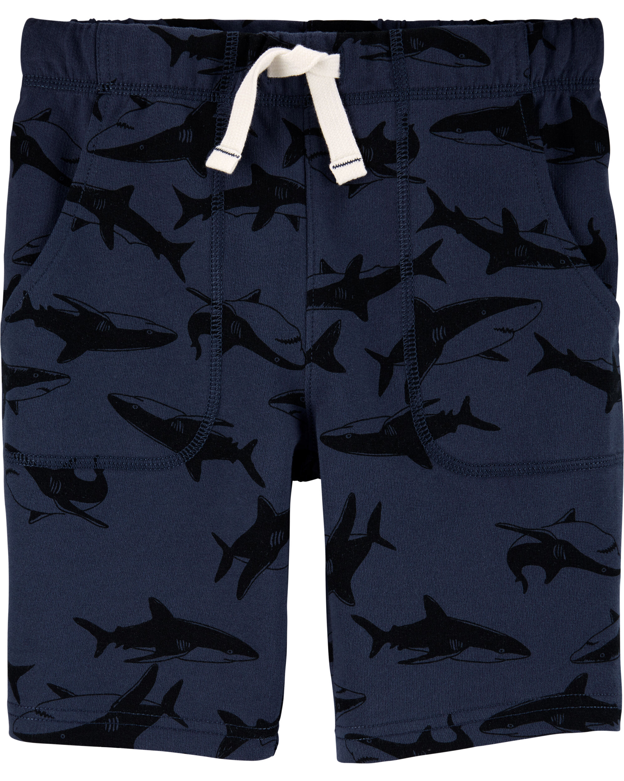 *CLEARANCE* Shark Pull-On French Terry Shorts