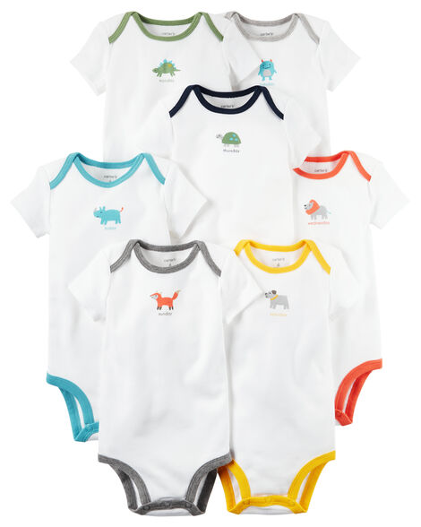 a458cf12b 7-Pack Days of the Week Short-Sleeve Original Bodysuits