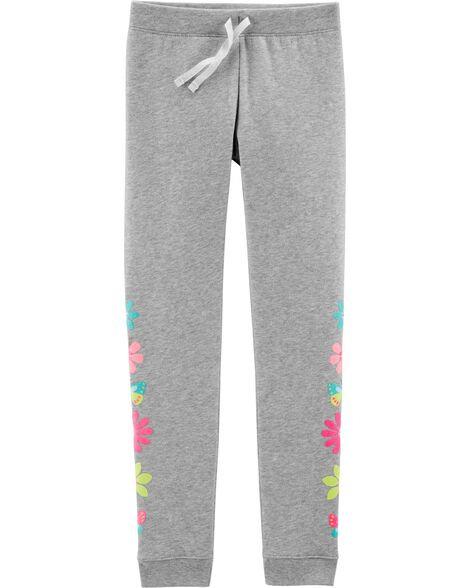 Floral Pull-On Fleece Joggers
