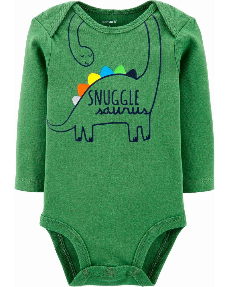 Snugglesaurus Dinosaur Baby Boy Bodysuit