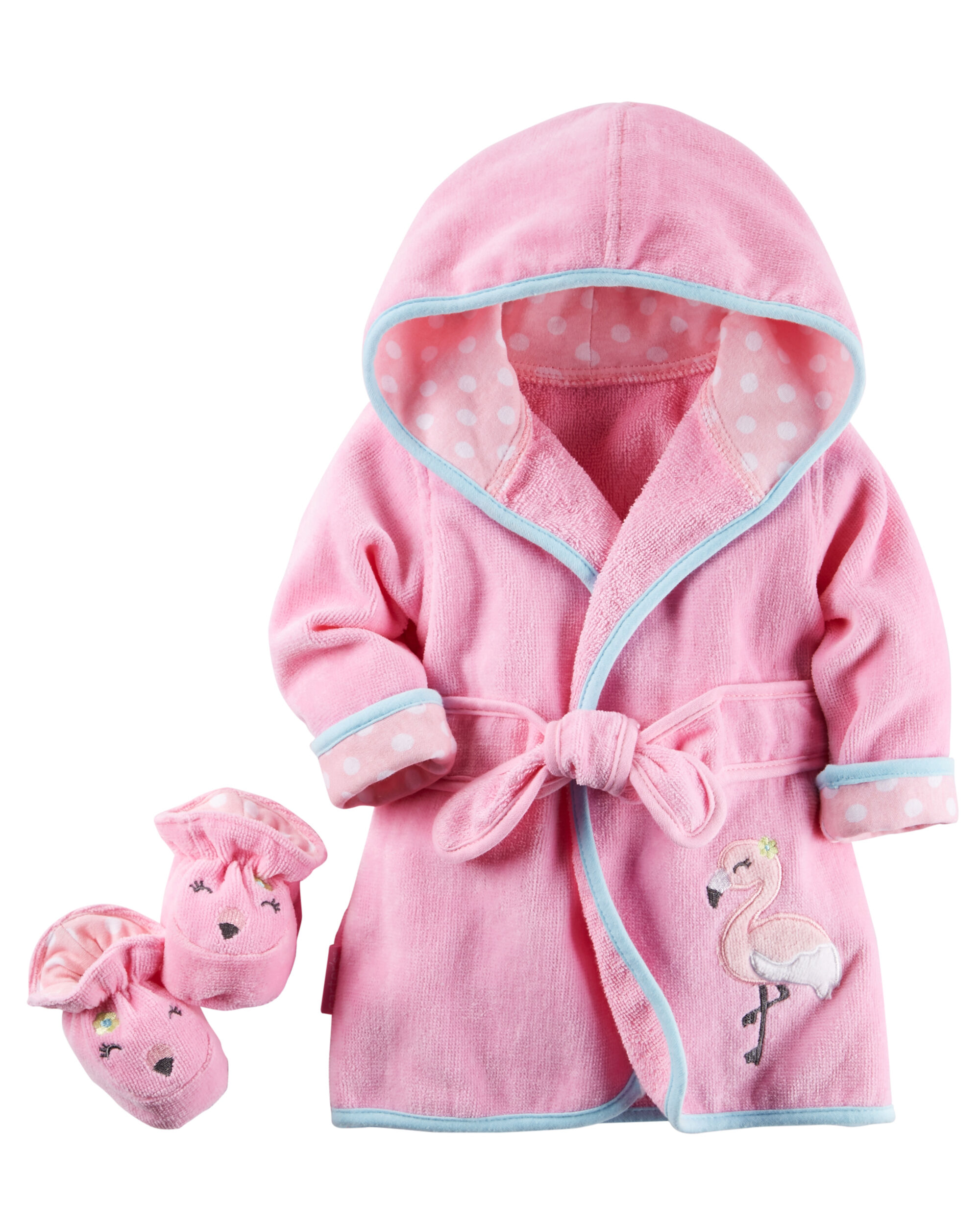 Flamingo Robe Bootie Set Carters Com