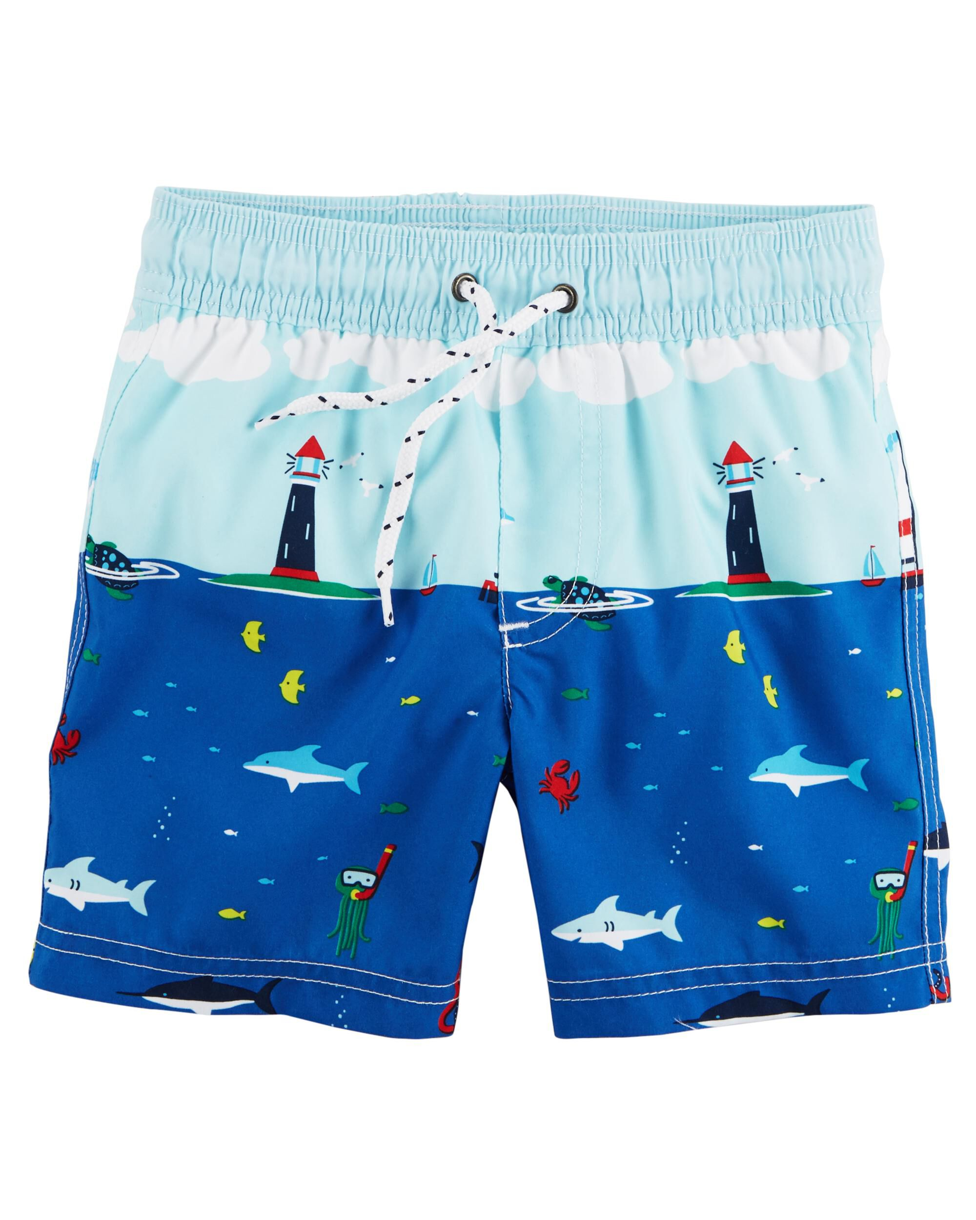 95de445a88 Baby Boy Carter's Sailboat Swim Trunks | Carters.com
