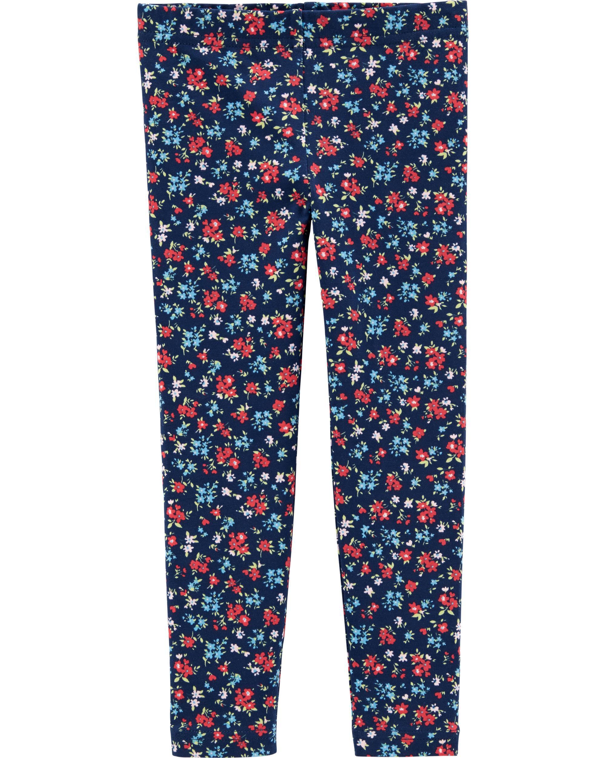 Carters Girls 2T-4T Floral Leggings
