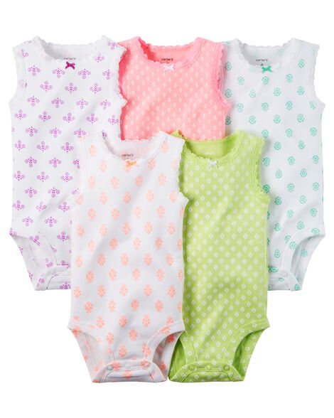 db2214c63 5-Pack Sleeveless Bodysuits | Carters.com