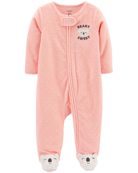 Polka Dot Zip-Up Terry Sleep & Play