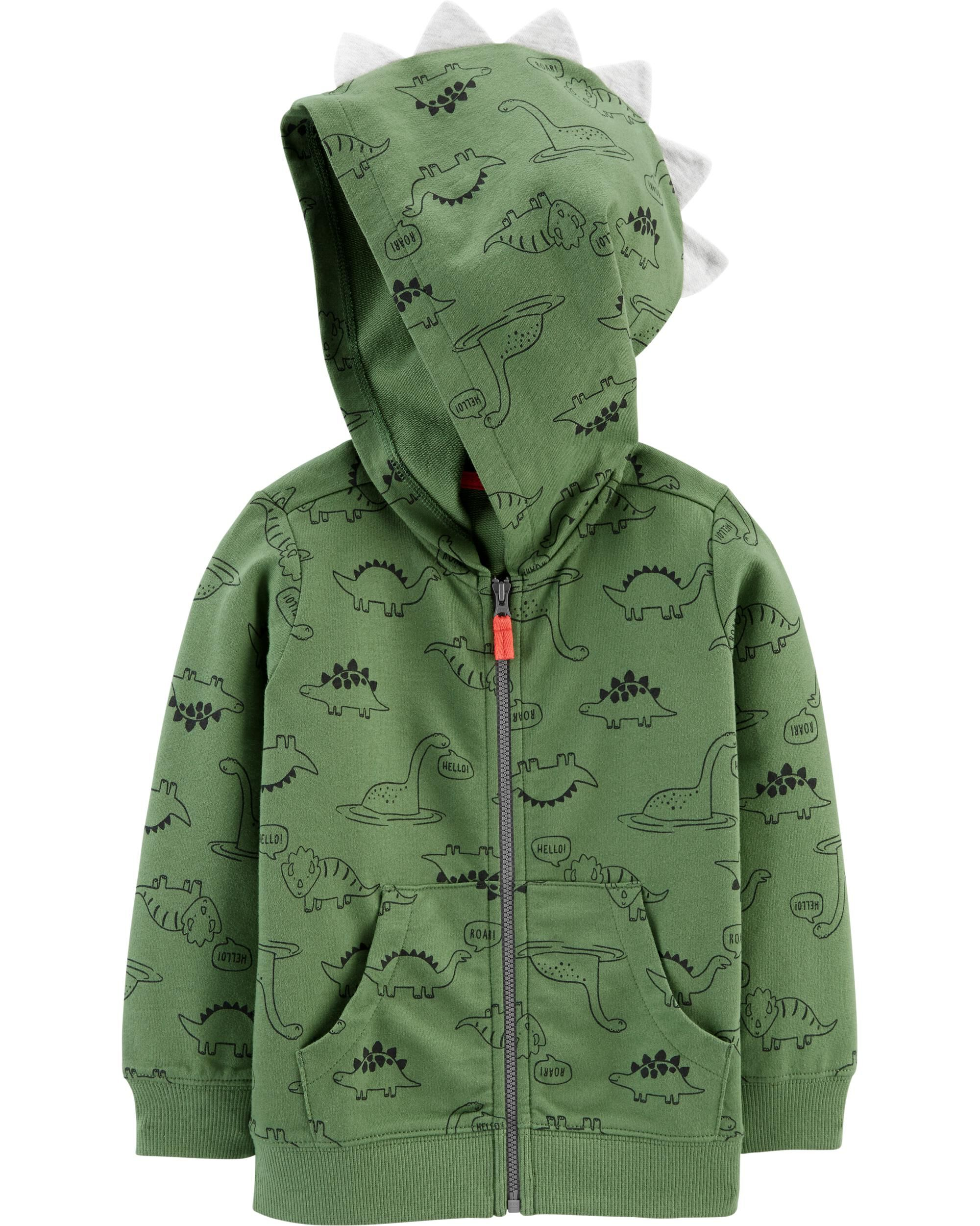 *CLEARANCE* Dinosaur Zip-Up French Terry Hoodie