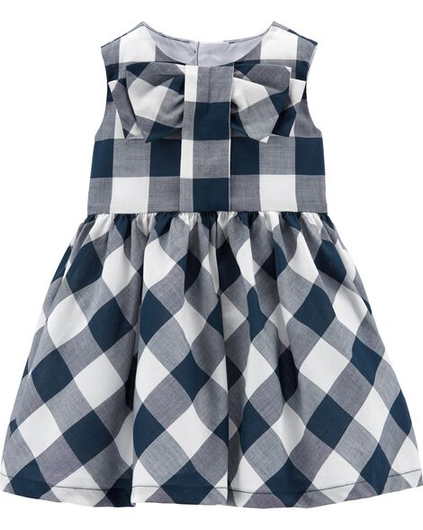 Gingham Lawn Dress