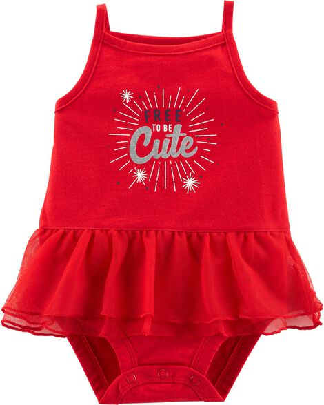 4th Of July Tutu Bodysuit
