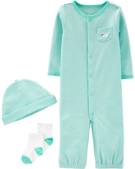 dba2f4acf114 Baby Boy 3-Piece Babysoft Take-Me-Home Set