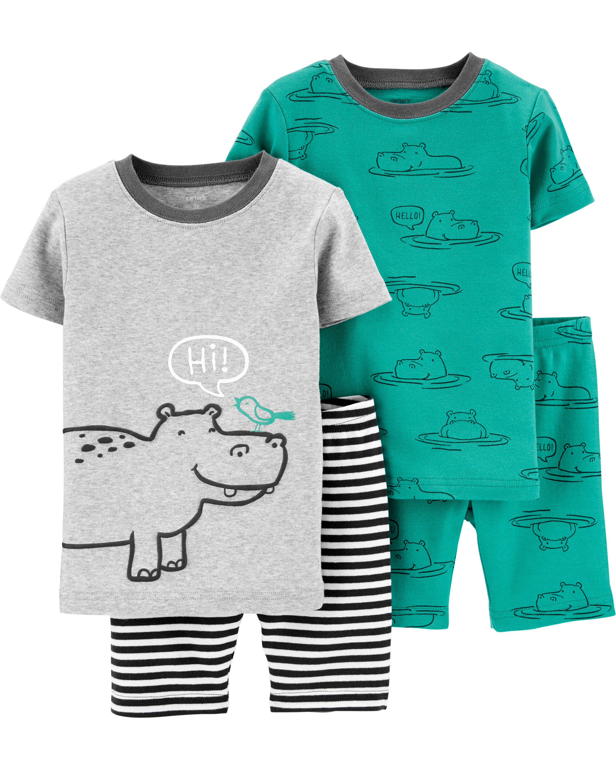 Carters 4-Piece Toddler and Baby Boys Sung fit Cotton Pajamas