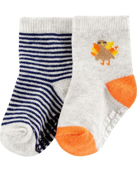 a19c3abcf Images. 2-Pack Thanksgiving Turkey Crew Socks. Loading zoom