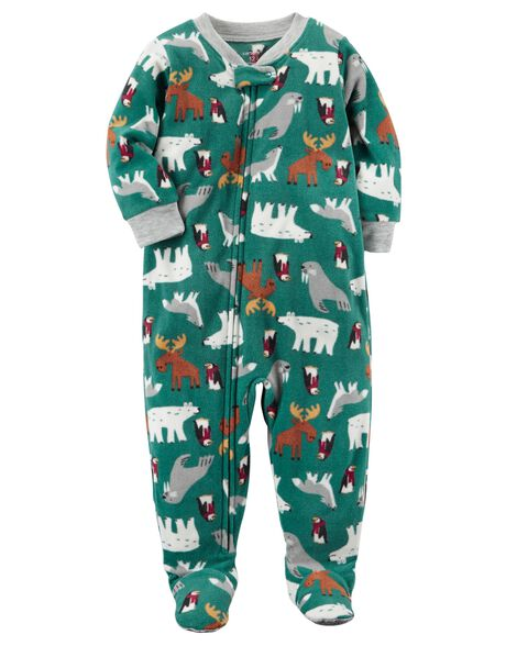 1-Piece Winter Fleece PJs