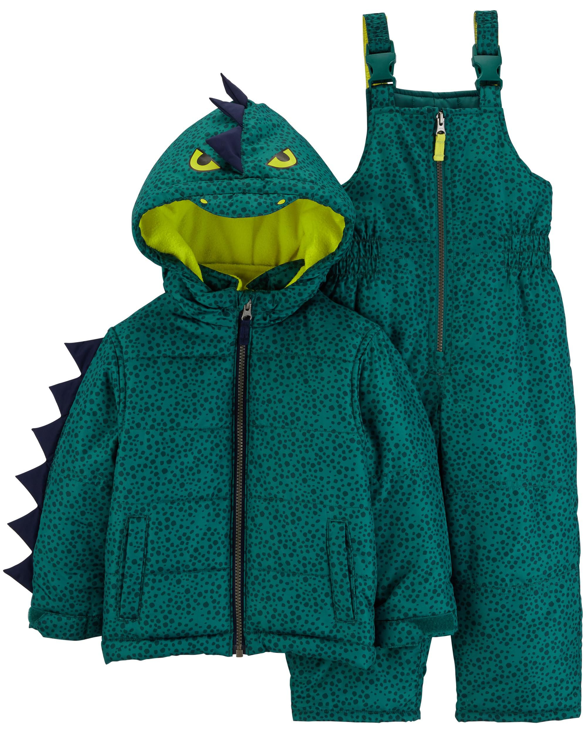 a54f42071 2-Piece Dinosaur Snowsuit Set