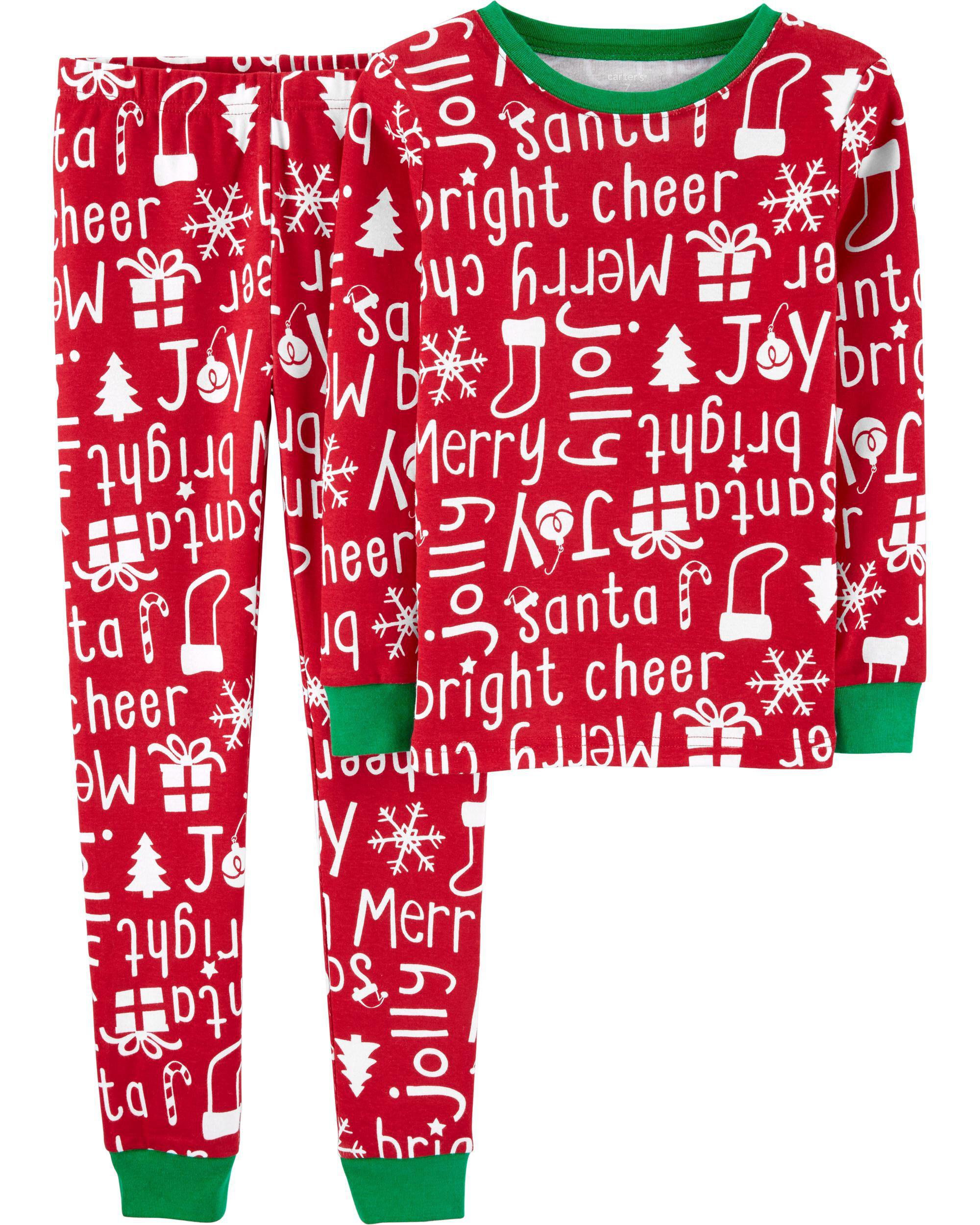*CLEARANCE* 2-Piece Christmas Snug Fit Cotton PJs