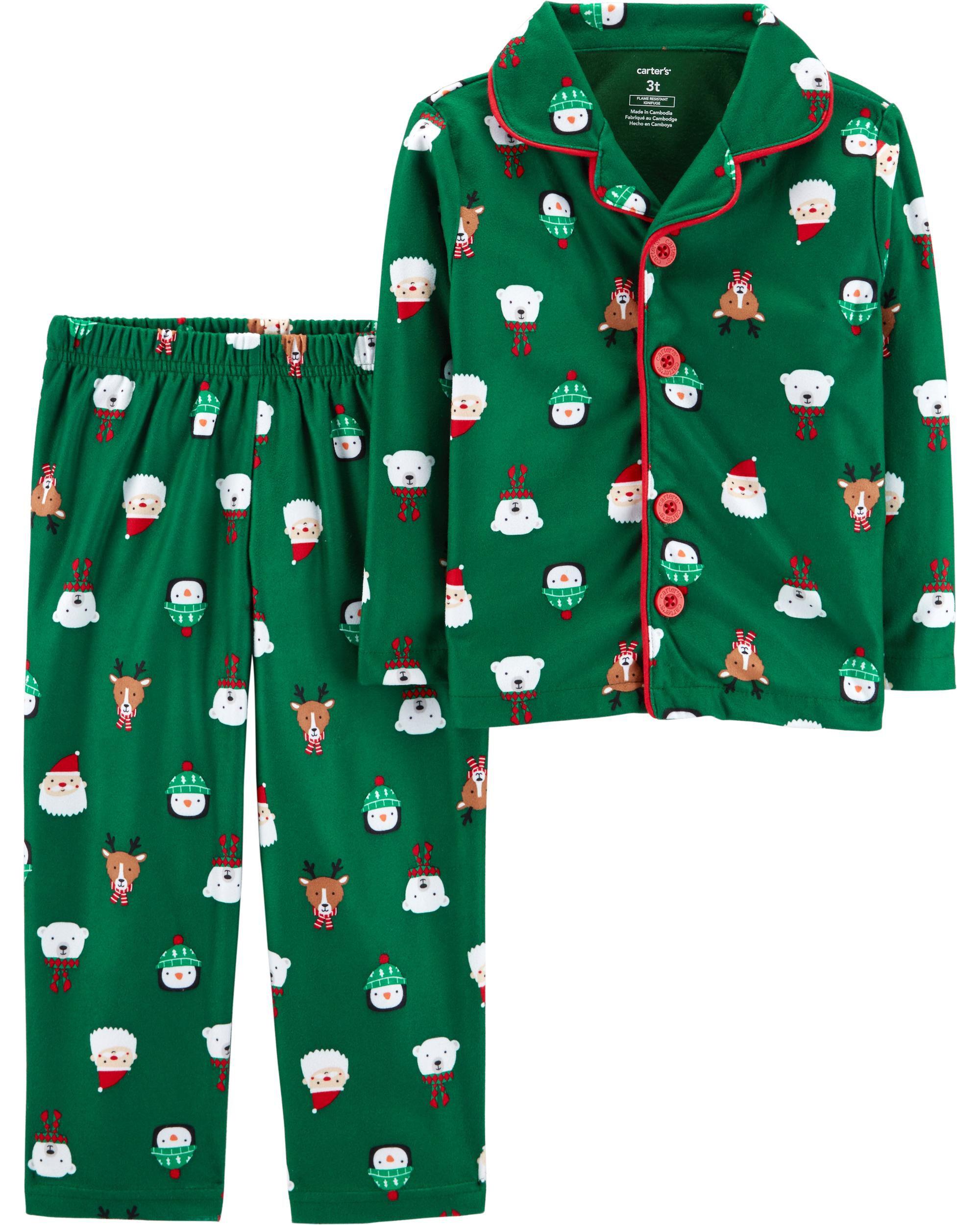 2 piece kid christmas lightweight fleece pjs loading zoom - Christmas Fleece