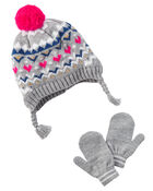 Simple Joys by Carters Baby Girls Hat and Mitten Set