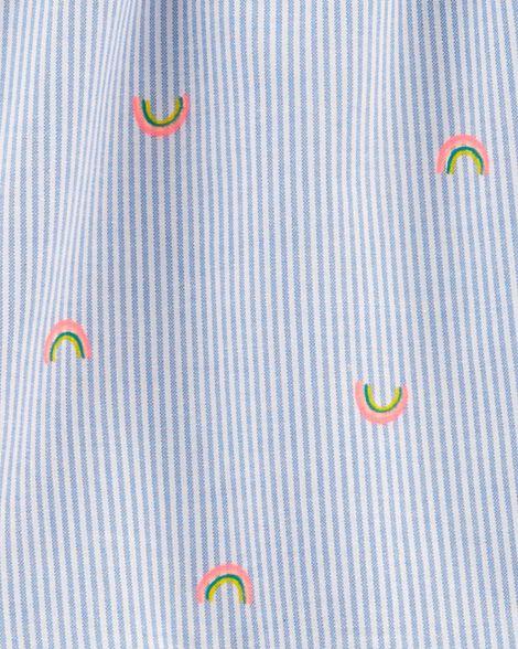 2-Piece Rainbow Peplum Top & Legging Set
