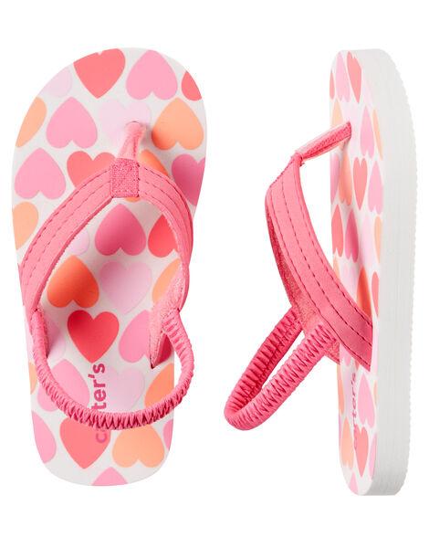 dee13fe13a3e Carter s Heart Print Flip Flops ...