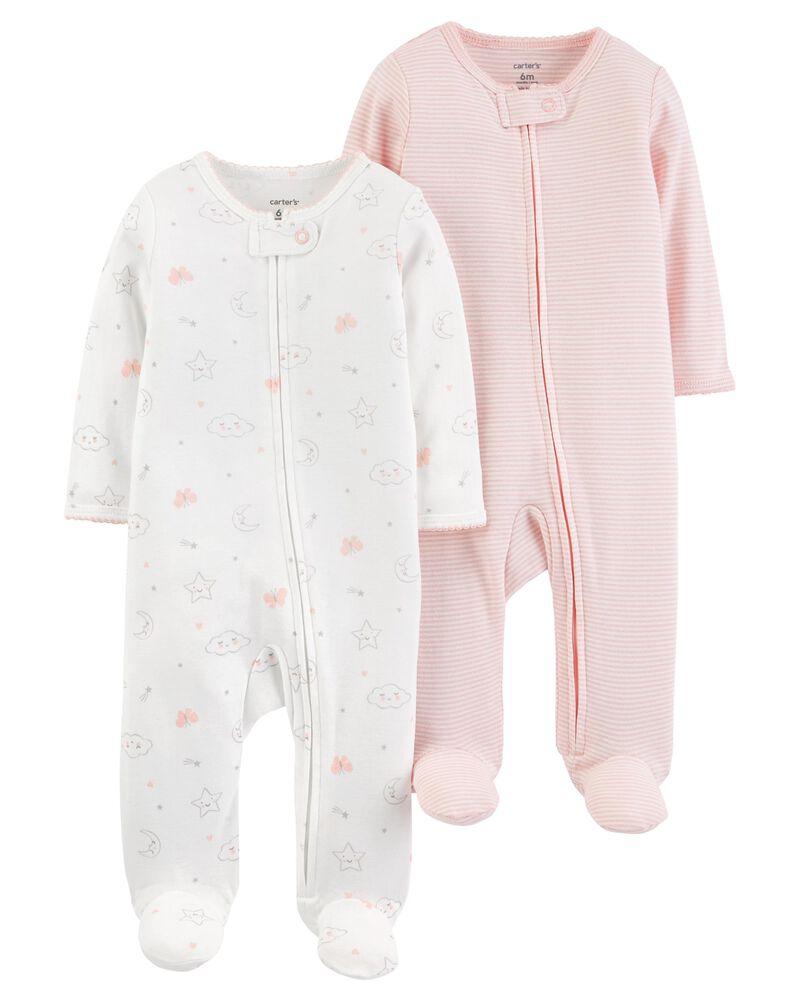 Carters Baby Girls 2-Pack Cotton Pajamas