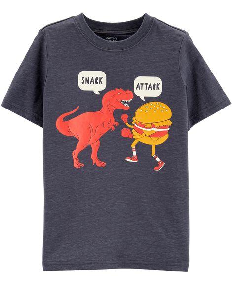 Snack Attack Dinosaur Layered-Look Tee