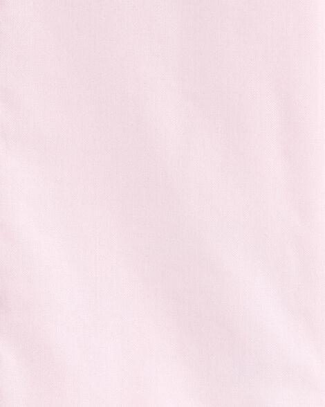 2-Piece Oxford Button-Front & Plaid Short Set