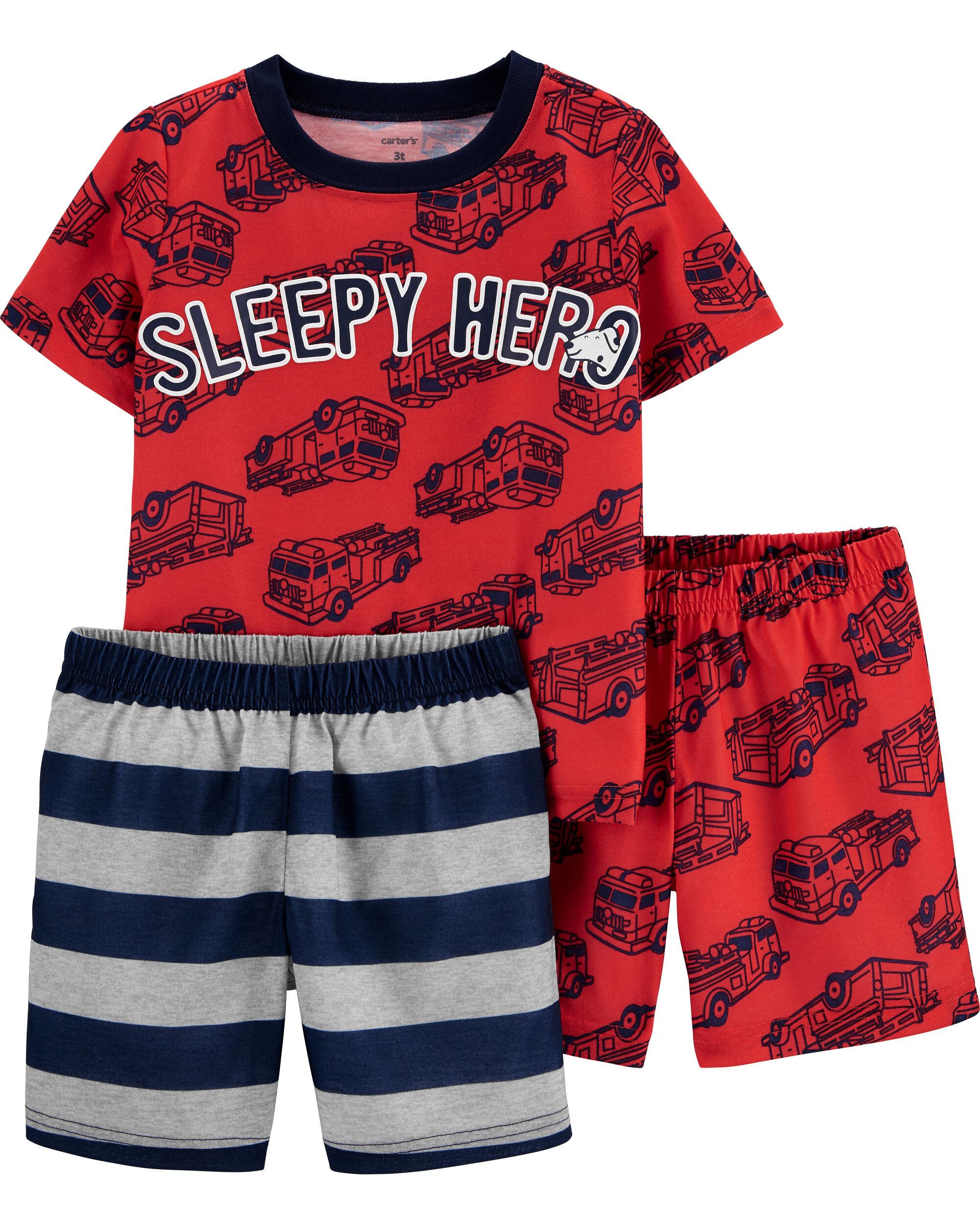 Baby Carters Baby Boys 4 Piece PJ Set Green Stripe