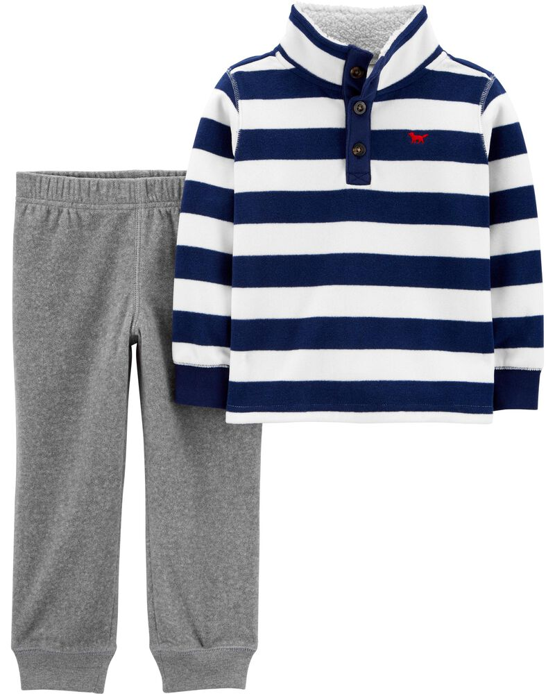 Carter/'s Boy/'s 2-Piece Button Shirt with Hoodie and Jogger Pant Set NEW