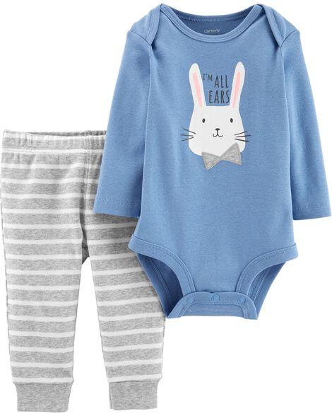 368400cdc 2-Piece Easter Bunny Bodysuit Pant Set   Carters.com
