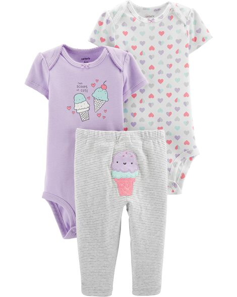7174d6c24a343 3-Piece Ice Cream Little Character Set | Carters.com