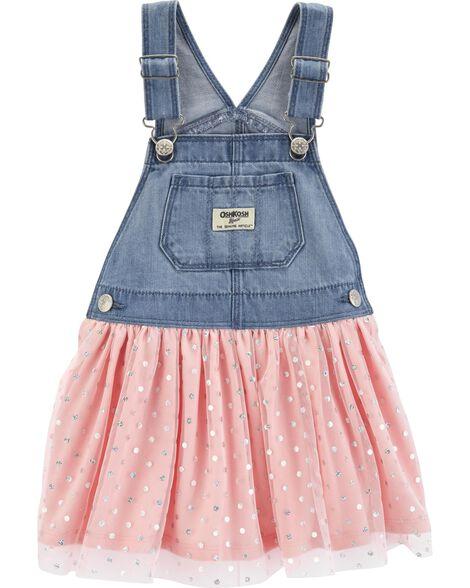 d5dbb140d9a9 Baby Girl Polka Dot Tulle Jumper