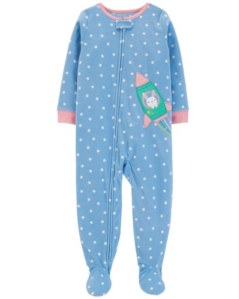 5fc5fbf94 1-Piece Polka Dot Fleece PJs