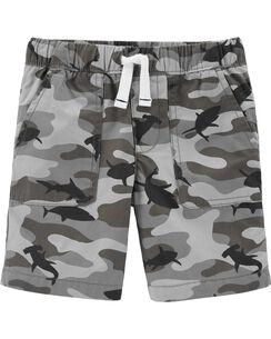 6bb51671f19 Shorts. Camo Pull-On Poplin Shorts