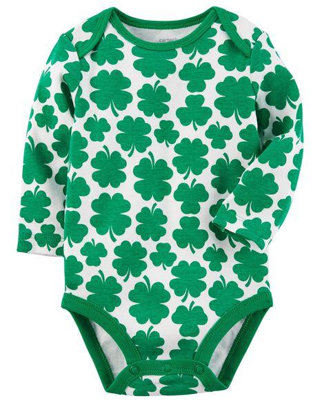 83d3a2c5d3d0 Long-Sleeve St. Patrick s Day Bodysuit