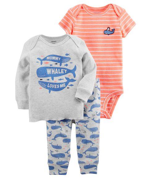 e83226acabde 3-Piece Whale Little Character Set