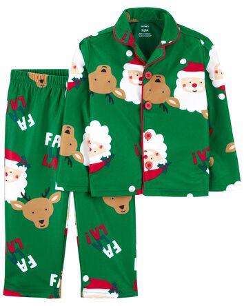 2-Piece Christmas Coat-Style Fleece...