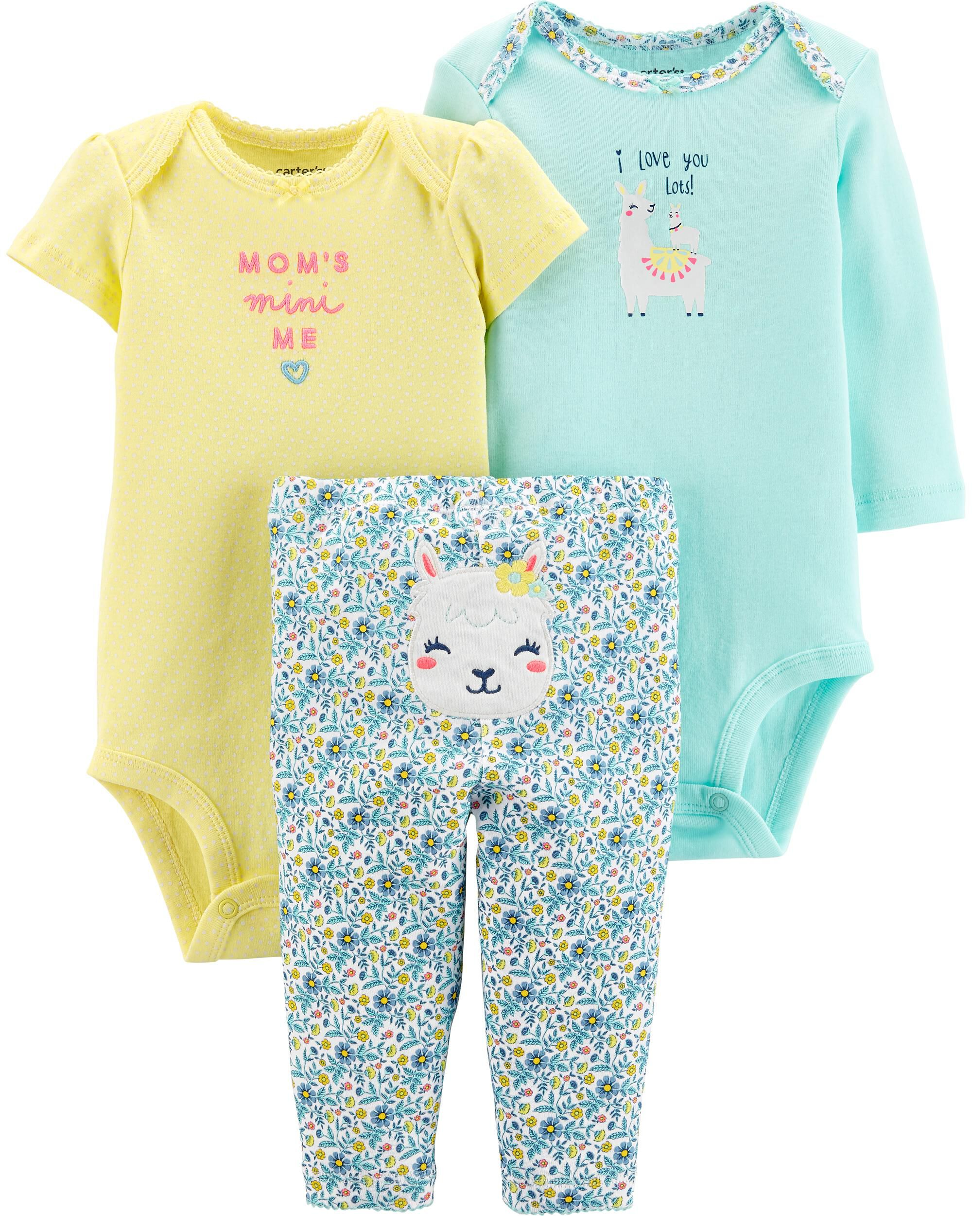 NEW Just One You Carter/'s Girls Cutest Sister Ever Mint Green Bodysuits 6m 9m