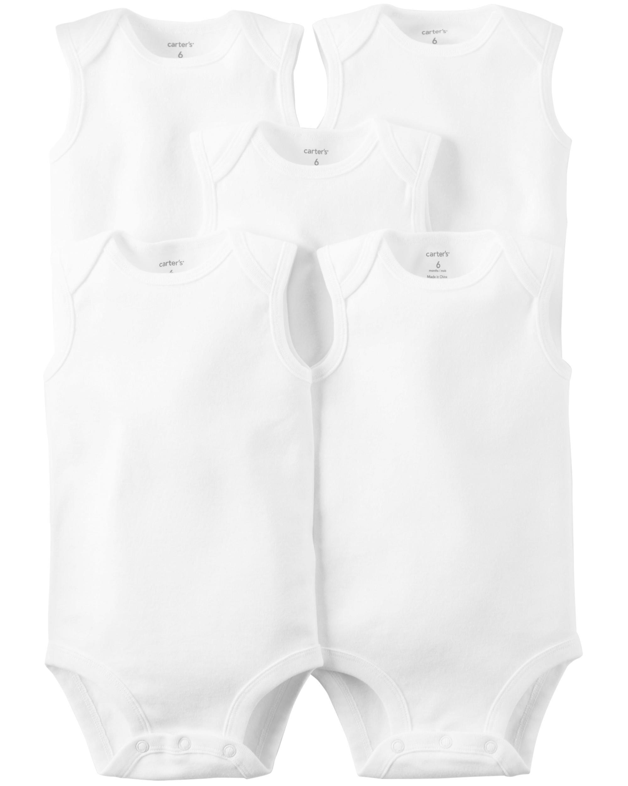 *DOORBUSTER* 5-Pack Sleeveless Original Bodysuits