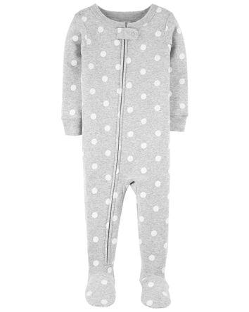 Polka Dot Cotton 1-Piece Pajama