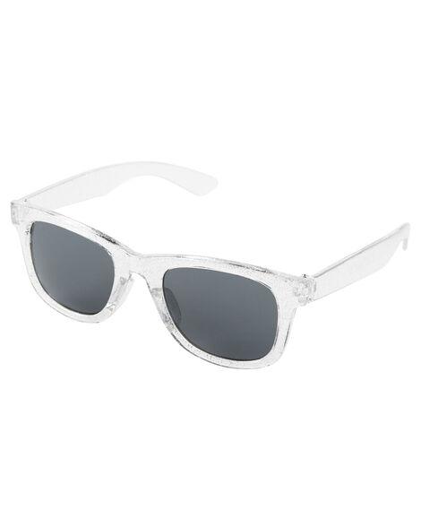 Silver Glitter Sunglasses