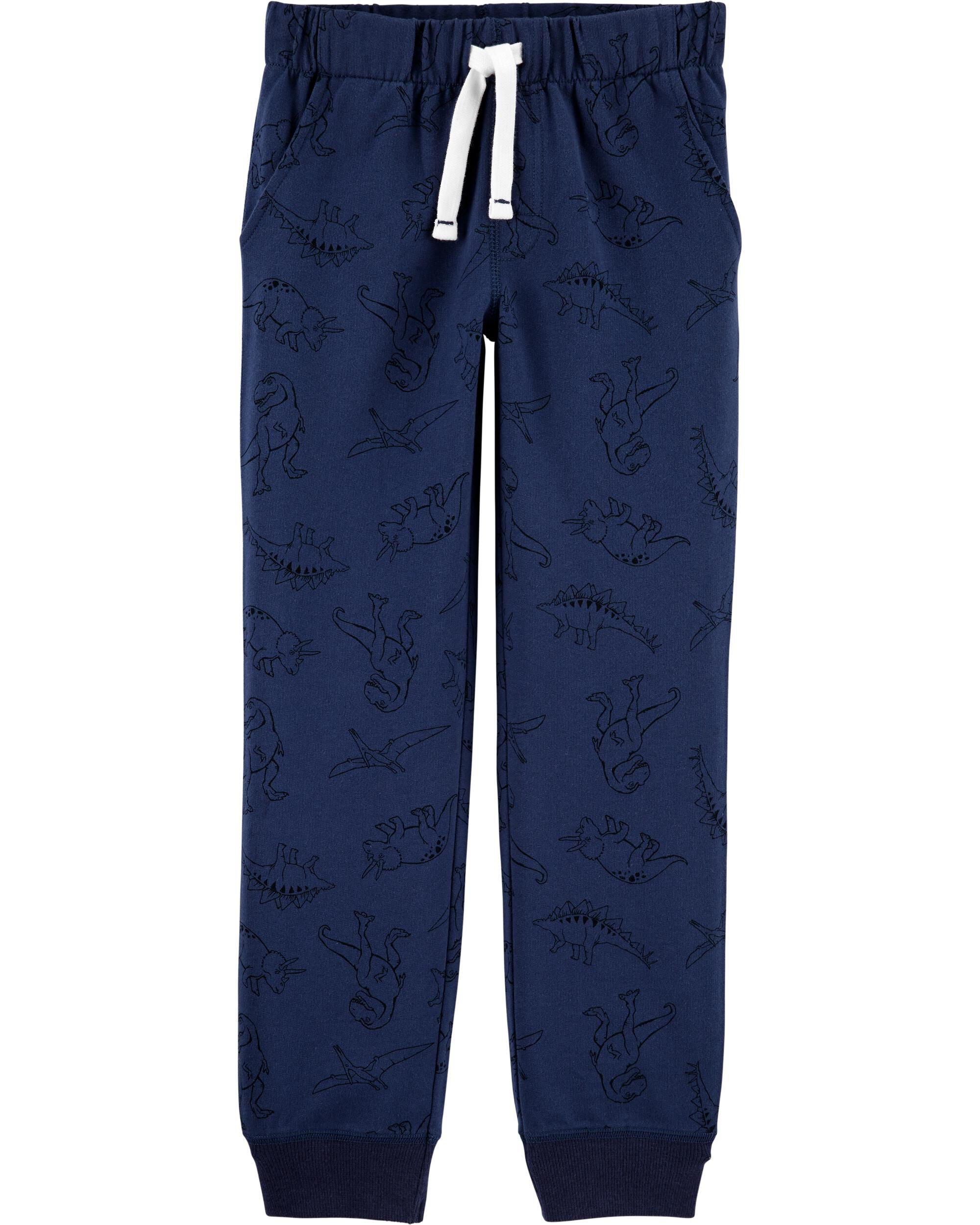 *DOORBUSTER* Dinosaur Pull-On French Terry Joggers