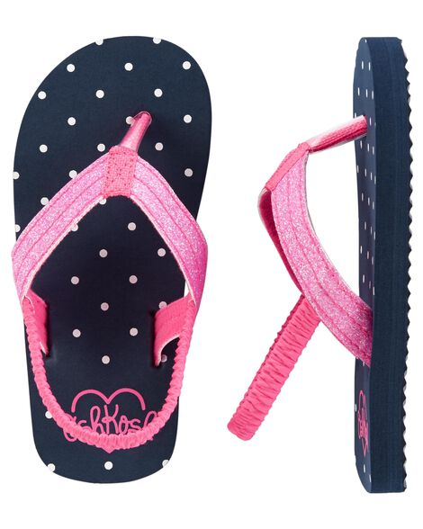 5162cf3e4 Kid Girl OshKosh Polka Dot Flip Flops